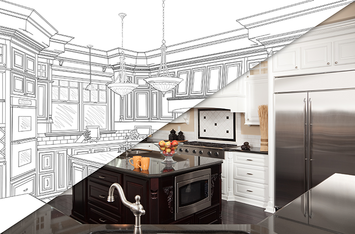 D j custom homes for How to design a kitchen renovation
