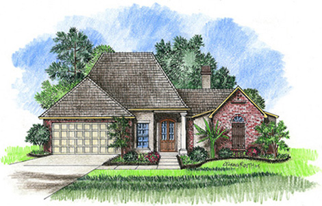 Cs1501 plan details for Acadiana homes