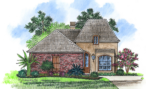 Cs1625 plan details for Acadiana home designs